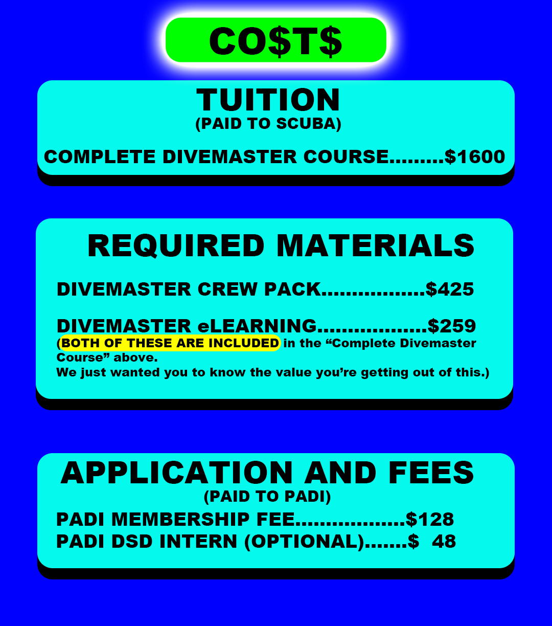 PADI Divemaster course st croix SCUBA virgin islands