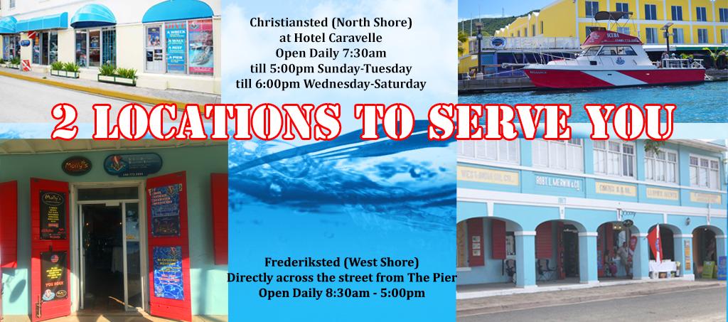 st croix SCUBA virgin islands dive shop locations
